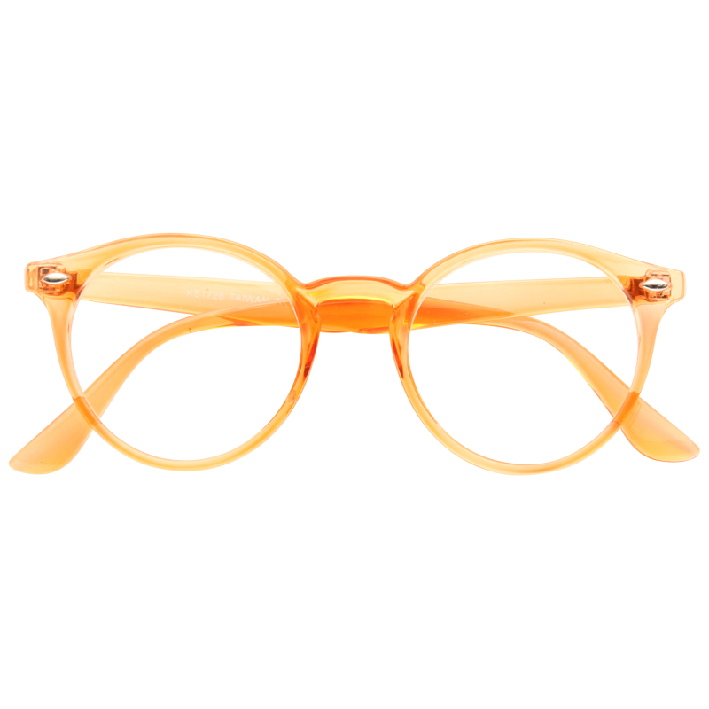 Grayson Oversized Round Clear Glasses