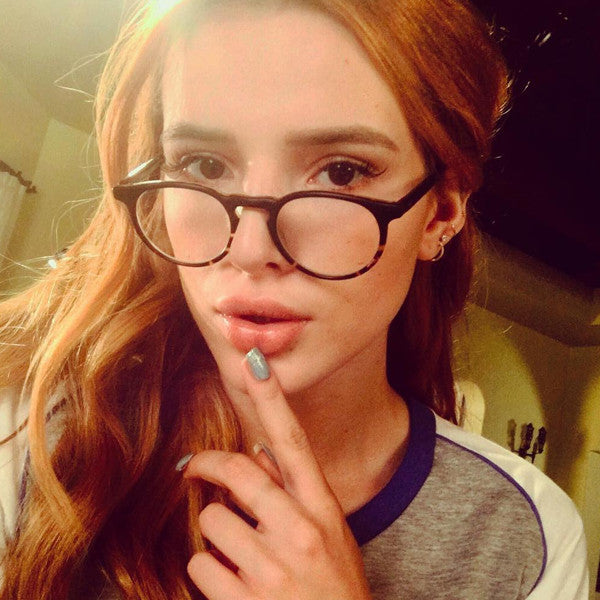 d59a83454fa21 Bella Thorne Style Oversized Round Celebrity Clear Glasses ...