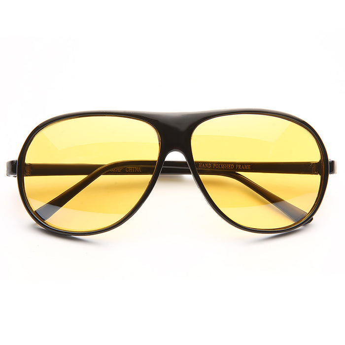 Pacific Vintage Unisex Thick Light Mirror Aviator Sunglasses