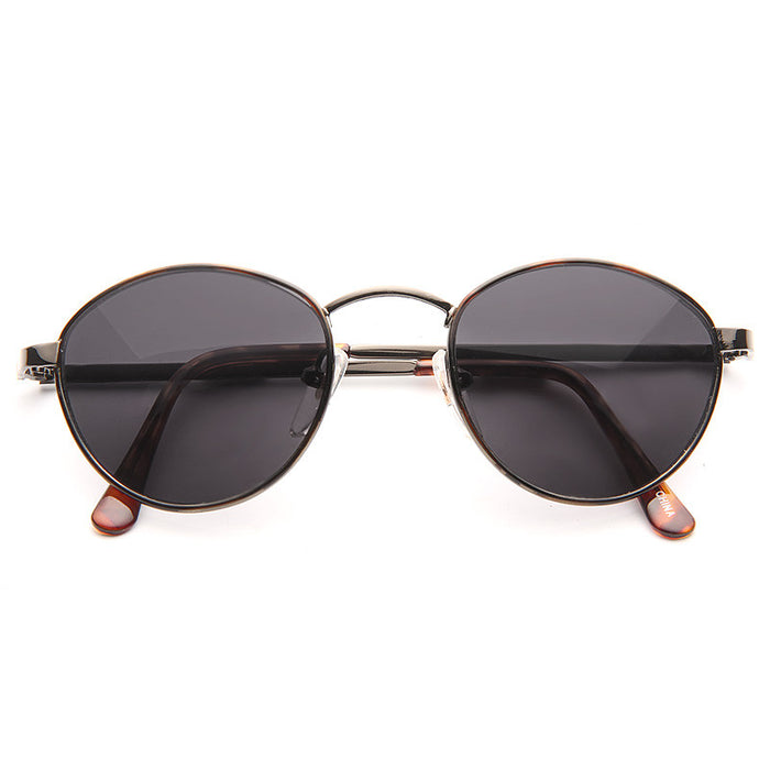 Gabb Vintage Rounded Solid Lens Sunglasses