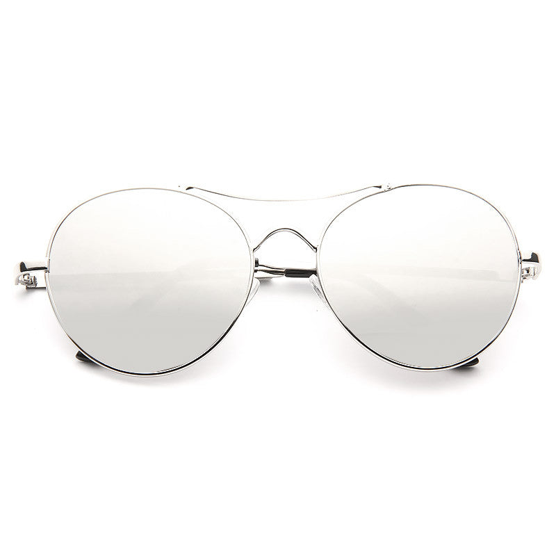 Claude Designer Inspired Color Mirror Round Aviator Sunglasses