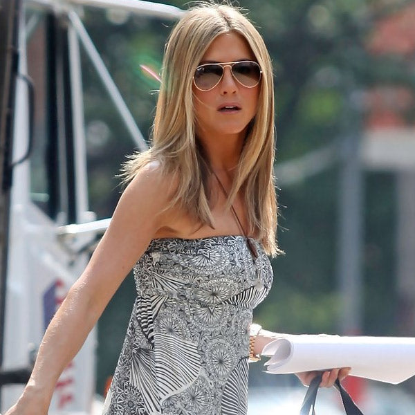 Jennifer Aniston Style 60mm Solid Lens Aviator Celebrity Sunglasses