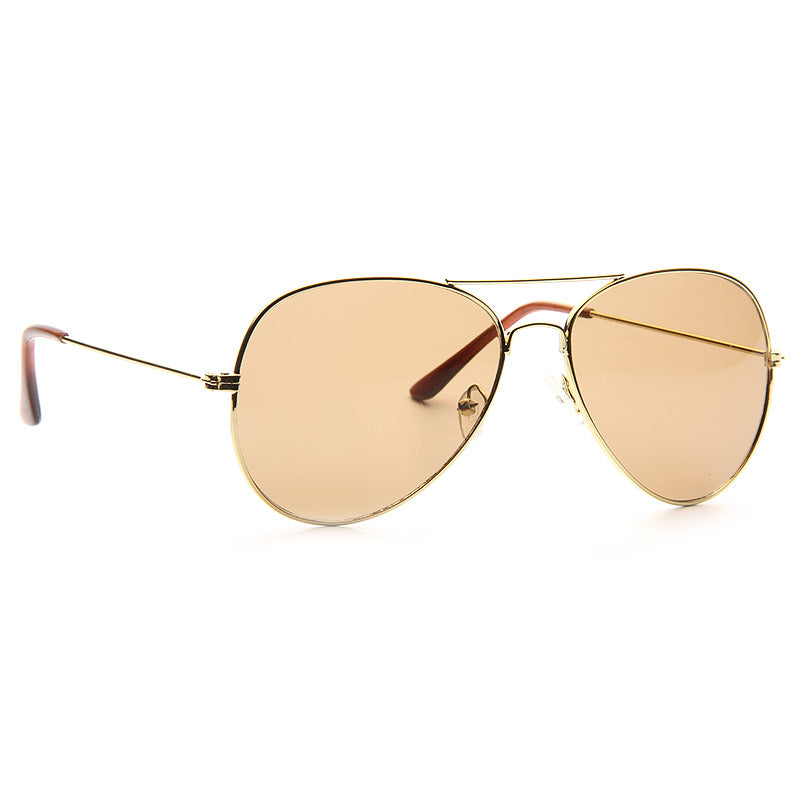 Classic 60mm Solid Lens Aviator Sunglasses
