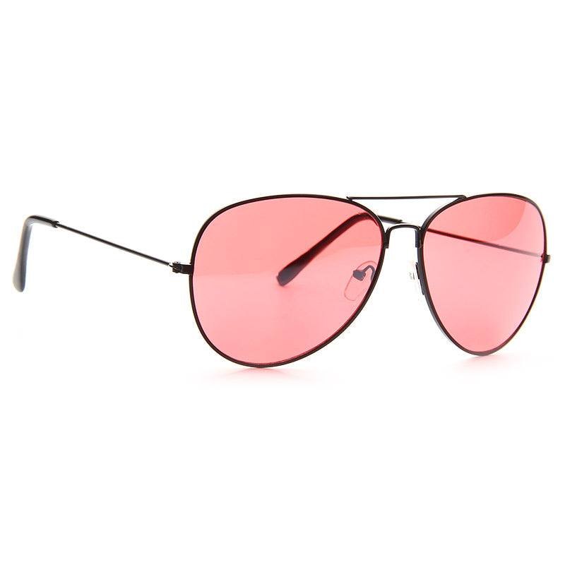 Classic 60mm Color Tint Lens Aviator Sunglasses