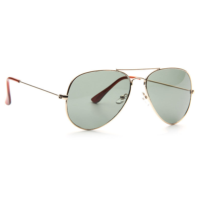 Classic 56mm Solid Lens Aviator Sunglasses