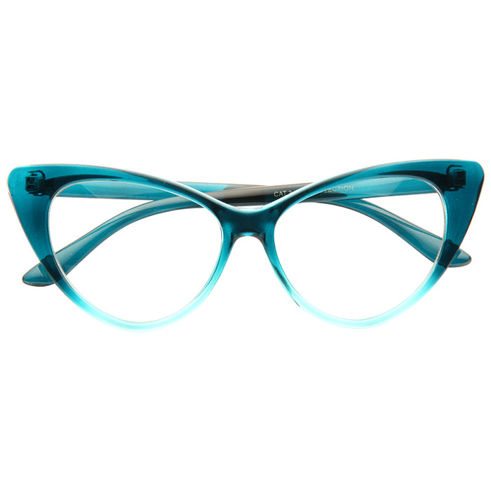 Nikita Designer Inspired Cat Eye Clear Glasses