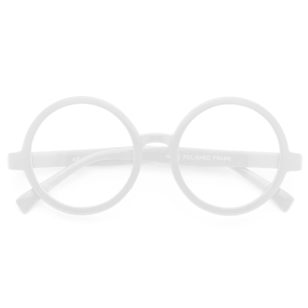 Miller Oversized Round Clear Glasses