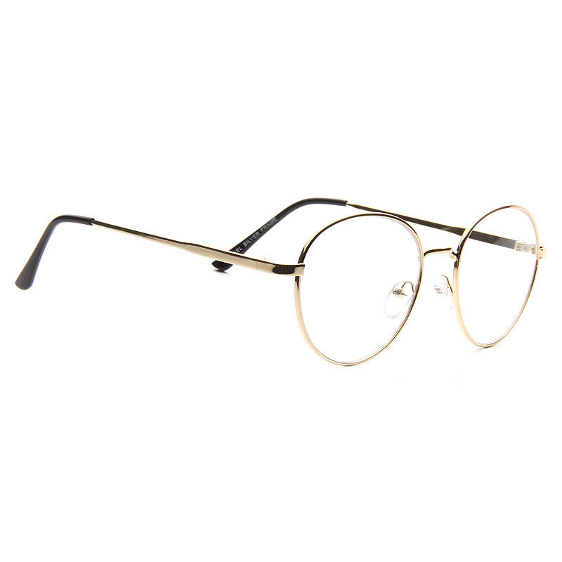 Alexander Metal Round Clear Glasses