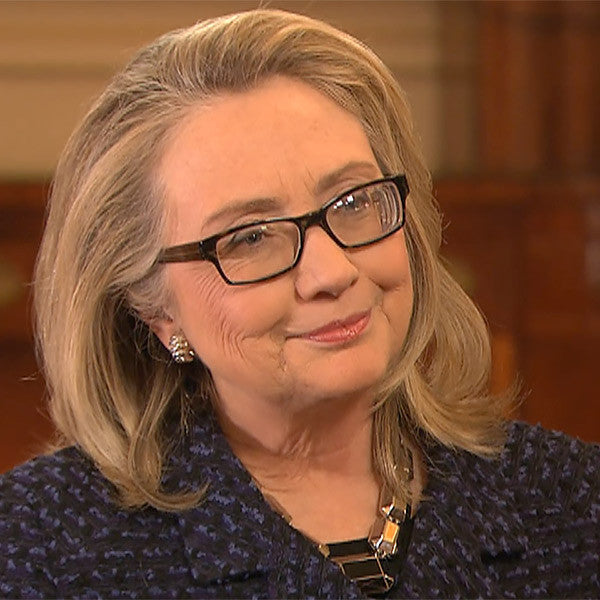 Hillary Clinton Skinny Squared Clear Glasses