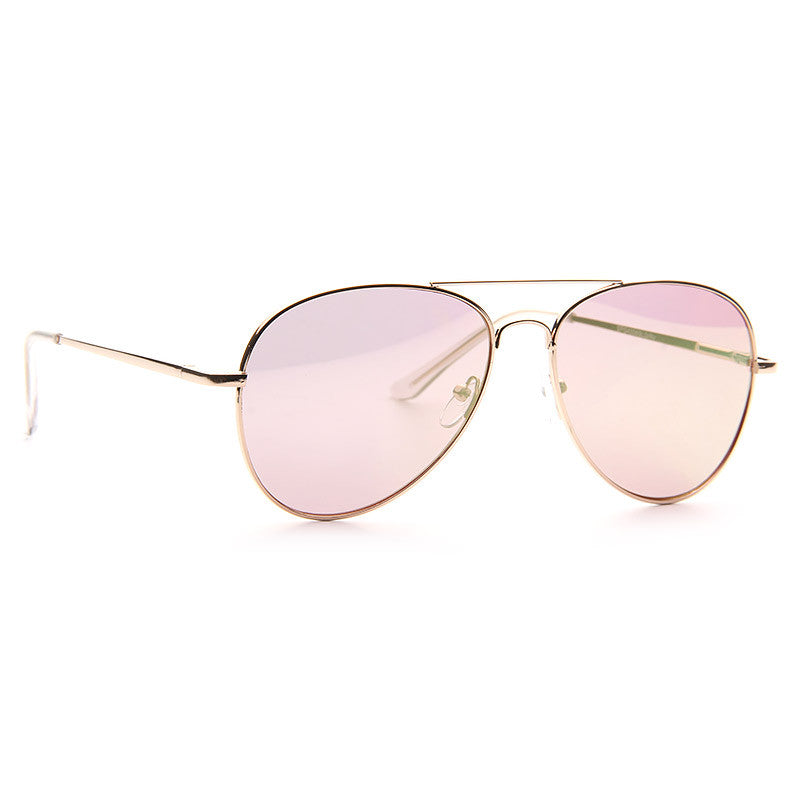 Luxe Classic 56mm Color Mirror Flat Lens Aviator Sunglasses