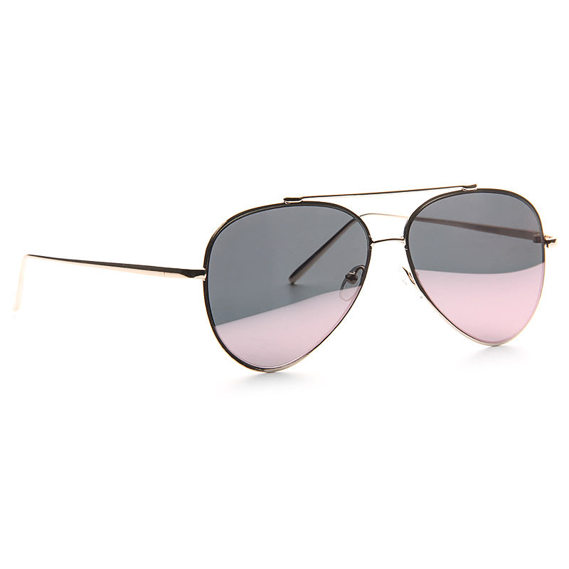 Luxe Classic 60mm Color Mirror Flat Lens Aviator Sunglasses