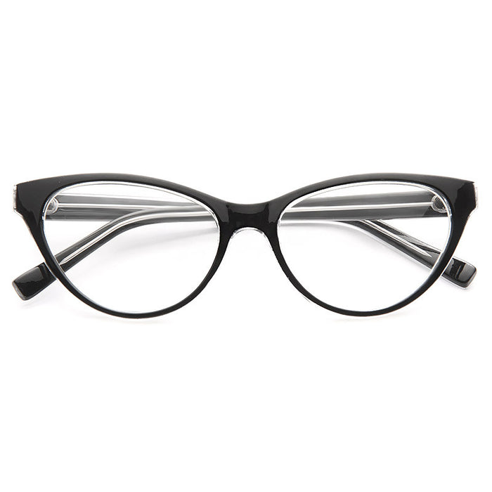 Olivia Solid Frame Clear Cat Eye Glasses