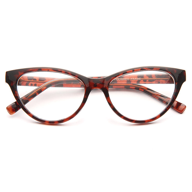 Bella Thorne Style Solid Frame Clear Cat Eye Glasses