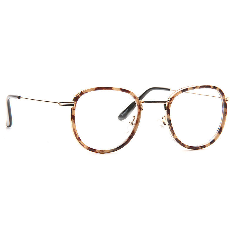Dayton Thin Round Metal Accent Clear Glasses