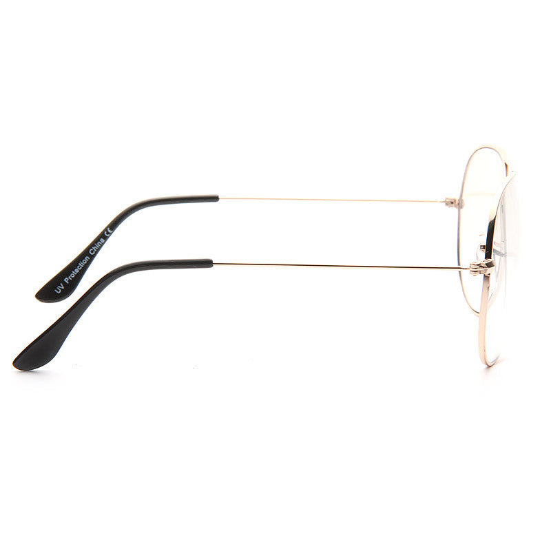 Classic 60mm Lightly Tinted Clear Aviator Glasses