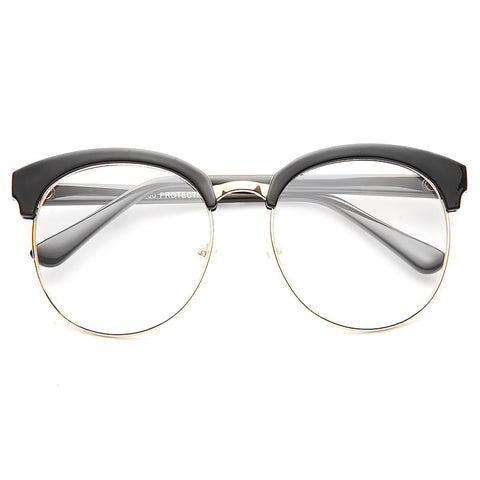 e2be6dc666 Denmark Oversized Round Clear Glasses
