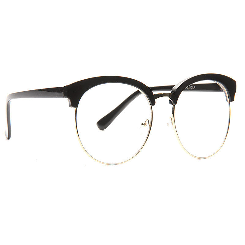 Denmark Oversized Round Clear Glasses