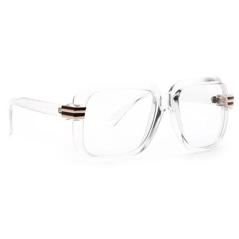 Harry 5 Oversized Square Clear Glasses