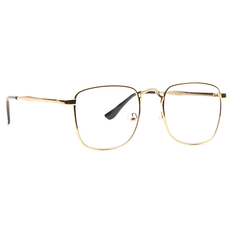 Hornbeck Thin Metal Squared Clear Glasses