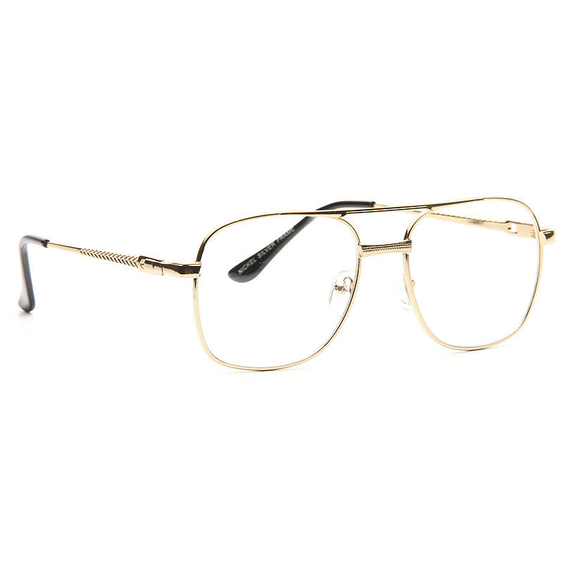 Wallace Thin Metal Squared Clear Glasses
