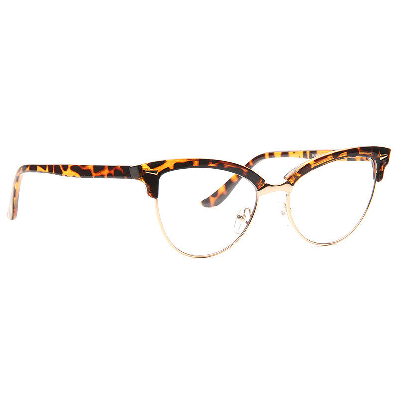 Evelyn Metal Frame Cat Eye Clear Glasses