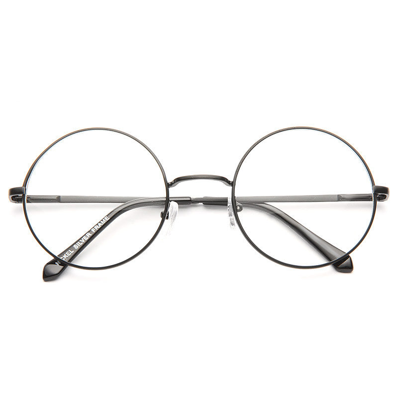 Leiden Unisex Metal Round Clear Glasses