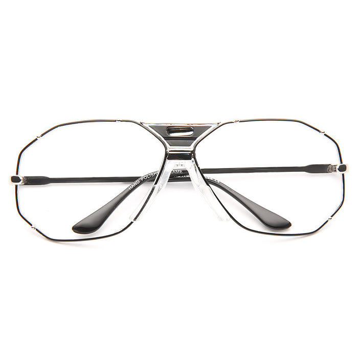 Marken Unisex Retro Metal Clear Aviator Glasses