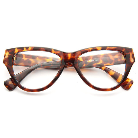 18baf5fe6a Greta Solid Frame Clear Cat Eye Glasses
