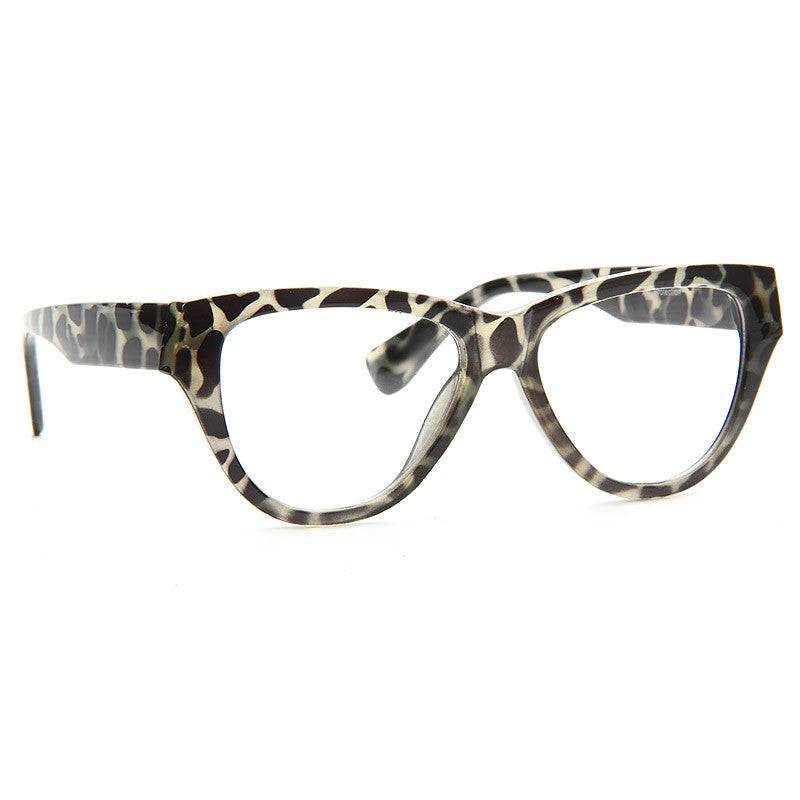 Josephine Skriver Style Solid Frame Cat Eye Celebrity Clear Glasses