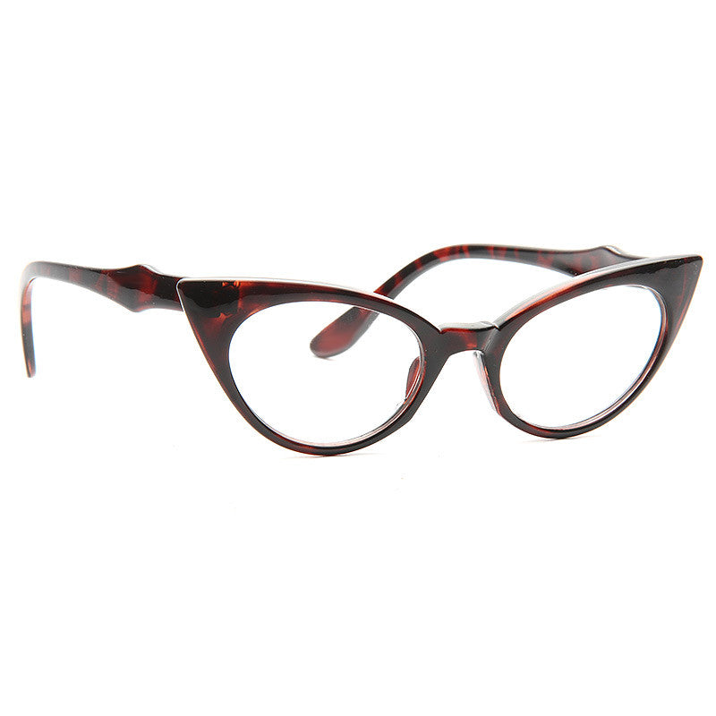 Hayworth 2 Sharp Point Cat Eye Clear Glasses