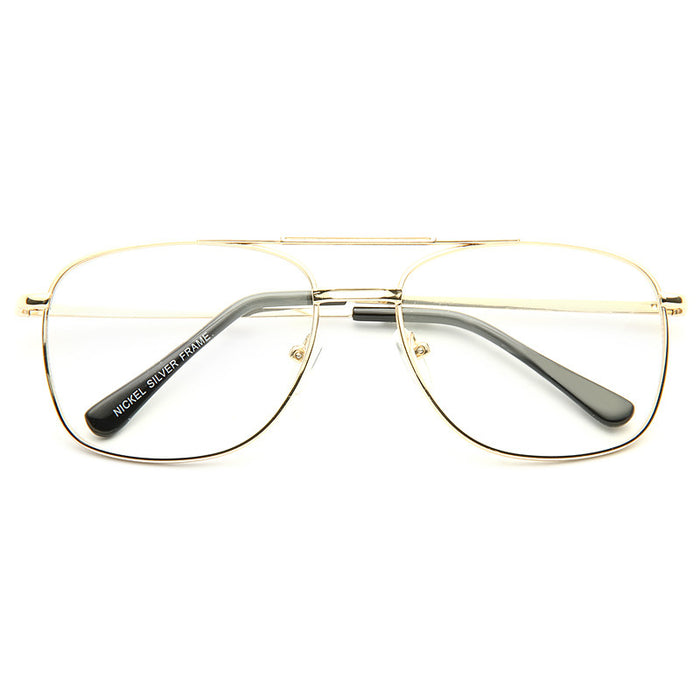 Badger Metal Clear Aviator Glasses