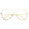 Duluth Mod Chain Embossed Clear Aviator Glasses