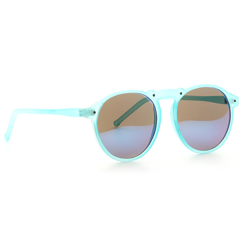 Rockton Unisex Rounded Frosted Clear Frame Sunglasses