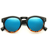 Cara Delevingne Style Unisex Color Mirror Rounded Celebrity Sunglasses
