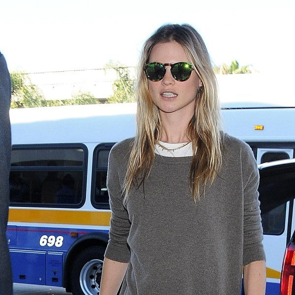Behati Prinsloo Style Unisex Matte Rounded Sunglasses