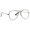 Decatur Metal Bent Bridge Flat Lens Clear Aviator Glasses