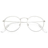 Ellington 4 Metal Flat Lens Round Clear Glasses