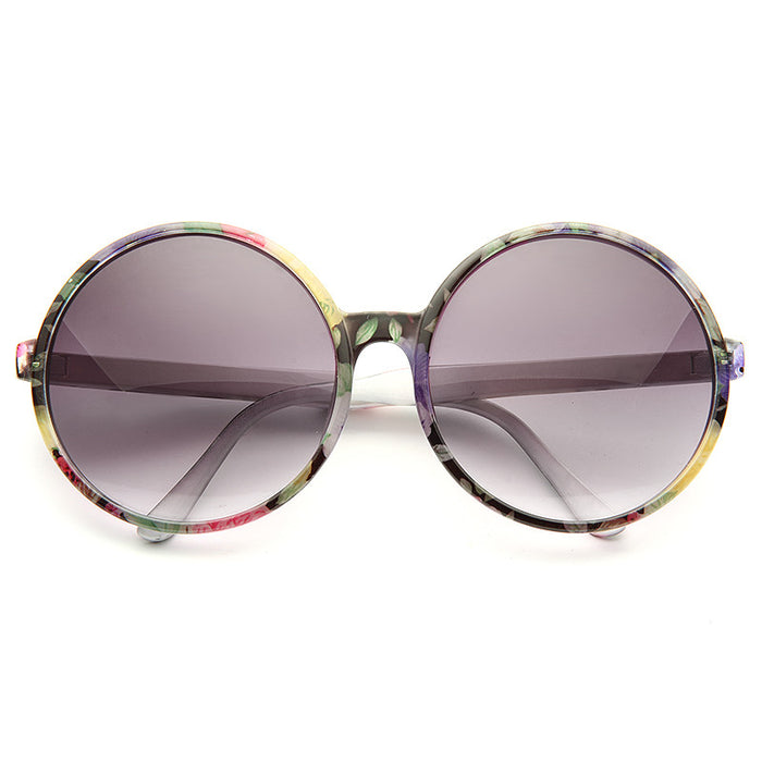 Flora Oversized Round Sunglasses