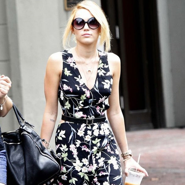 Miley Cyrus Style Oversized Round Celebrity Sunglasses