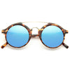 Wagner Curved Round Sunglasses