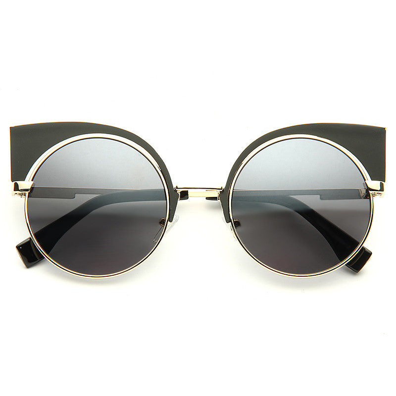 Eyeshine Designer Inspired Metal Cat Eye Sunglasses