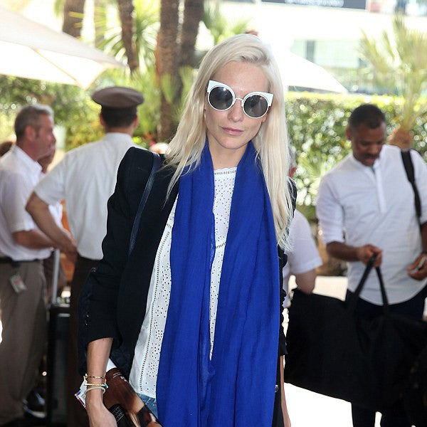 Poppy Delevingne Style Metal Cat Eye Celebrity Sunglasses