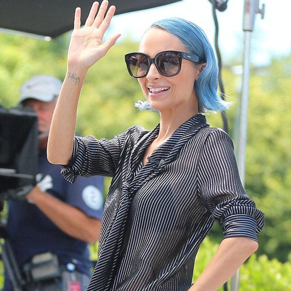 Nicole Richie Style Oversized Squared Horn Rimmed Sunglasses