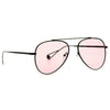 Brock Light Tint Metal Flat Lens Aviator Sunglasses