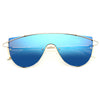 Zhora 2 Designer Inspired Flat Top Mirror Shield Sunglasses