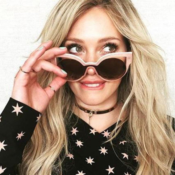 Hilary Duff Style Cat Eye Celebrity Sunglasses