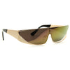 Rihanna Designer Inspired Polarized Slim Mirror Shield Sunglasses