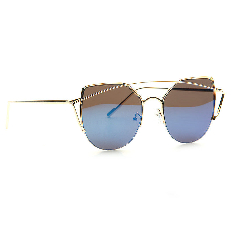 Thinker Designer Inspired Flat Lens Color Mirror Sunglasses