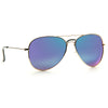Classic 58mm Color Mirror Polarized Aviator Sunglasses