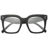 Tilda Oversized Designer Inspired Horn Rimmed Clear Glasses